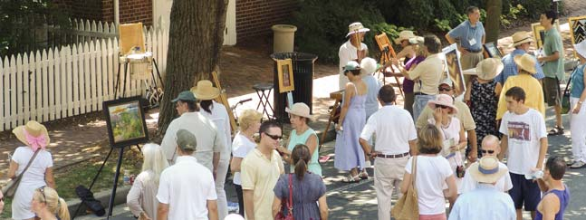 Artists working en plein air benefit from natural light.