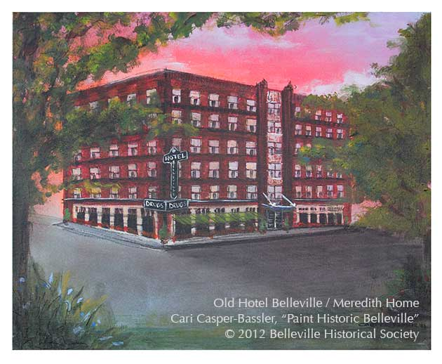 Cari Casper Bler S Painting Of The Old Hotel Belleville Meredith Home Painted At