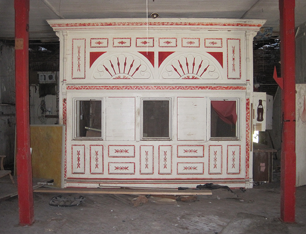 The counter and other details from the store have also been preserved